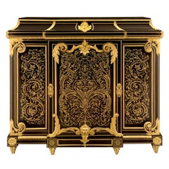 French 19th Century Napoleon III Period Boulle Cabinet À Hauteur D'Appui
