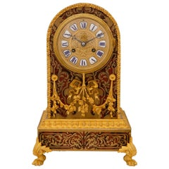 French 19th Century Napoleon III Period Boulle Clock