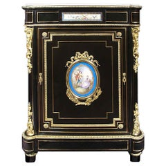 French 19th Century Napoleon III Period Ebony Cabinet