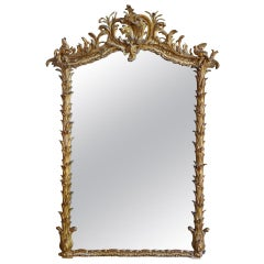 French 19th Century Napoleon III Period Giltwood Mirror