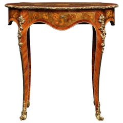 French 19th Century Napoleon III Period Louis XV St. Side Writing Table