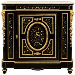 French 19th Century Napoleon III Period Ormolu and Marble Cabinet