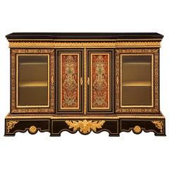 French 19th Century Napoleon III Period Vitrine Cabinet, Signed Pretot