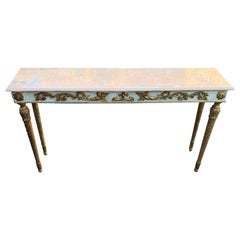 French 19th Century Narrow Louis XVI Marble-Top Console Table