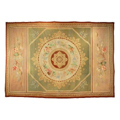 French 19th Century Neo-Classical Empire St. Aubusson Antique Carpet