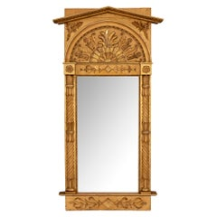 French 19th Century Neo-Classical Giltwood Mirror