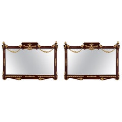 French 19th Century Neoclassical Style Mahogany and Ormolu Mirrors