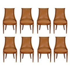 French 19th Century Neoclassical Style Set of Eight Side Chairs