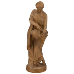 French 19th Century Neo-Classical St. Terra Cotta Statue