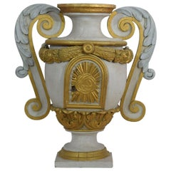 French 19th Century Neoclassical Painted Wooden Tabernacle