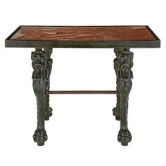 French 19th Century Neoclassical Style Bronze and Marble Coffee Table