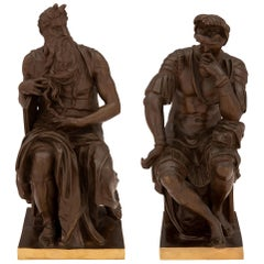 French 19th Century Neoclassical Style Bronze and Ormolu Statues