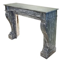 French 19th Century Neoclassical Style Gris St. Anne Marble Mantel