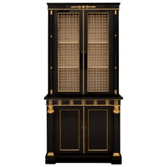 French 19th Century Neoclassical Style Napoleon III Period Deux Corps Cabinet