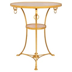 French 19th Century Neoclassical Style Ormolu and Marble Gueridon Side Table