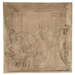 French 19th Century Neoclassical Style Plaster Plaque