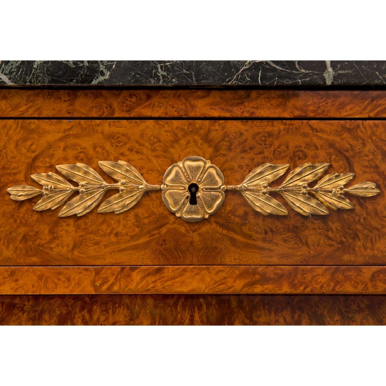French 19th Century Neoclassical Style Walnut and Ormolu Two-Door/Drawer Buffet For Sale 4