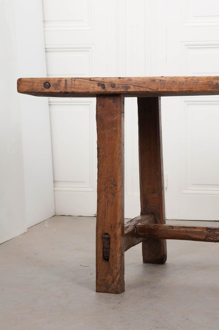 French 19th Century Oak And Walnut Farmhouse Table At 1stdibs