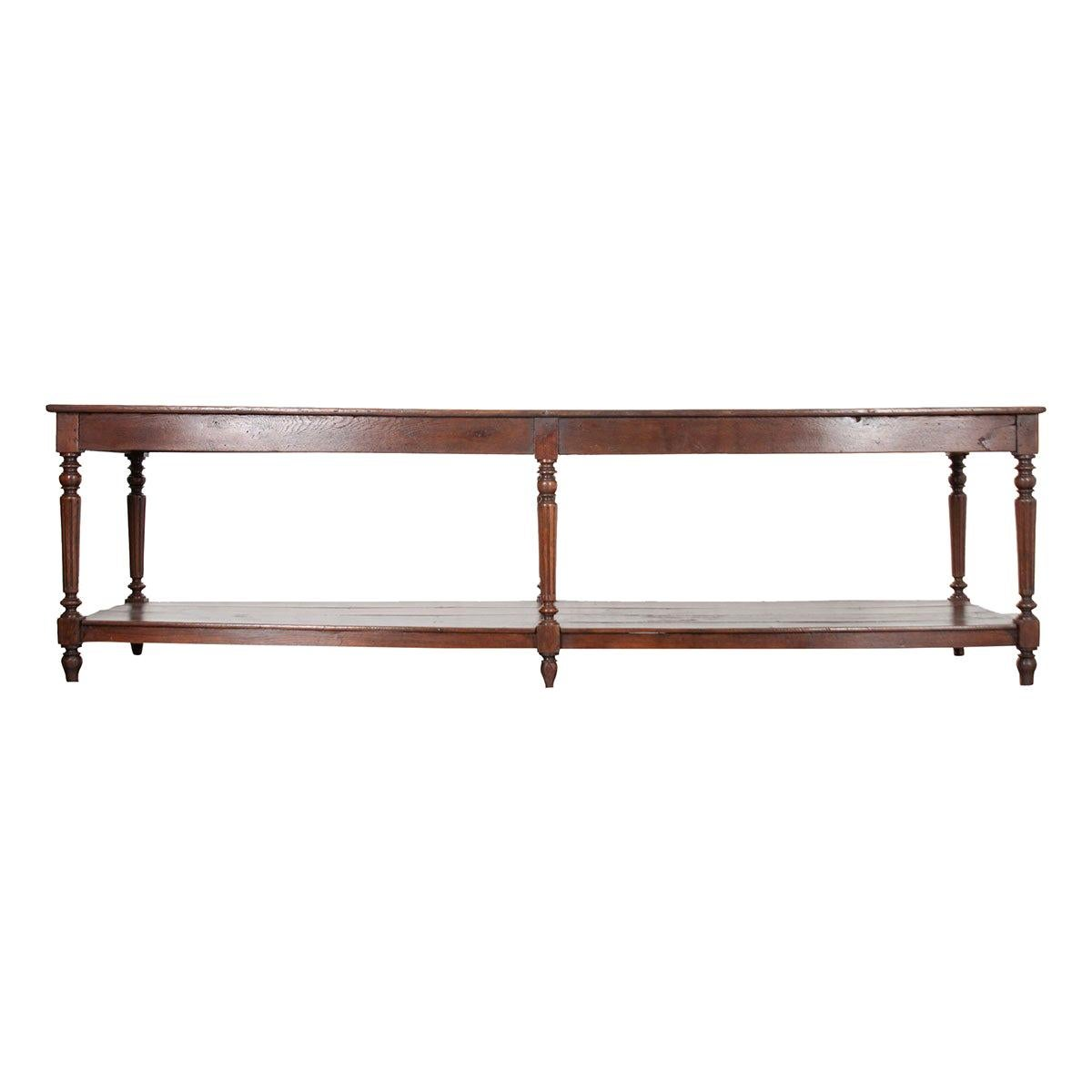 French 19th Century Oak Drapery Table