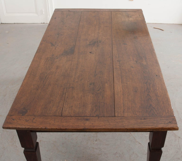 Farm Dining Table For Sale: French 19th Century Oak Farmhouse Style Dining Table For