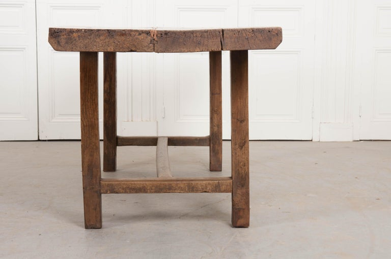 French 19th Century Oak Farmhouse Table For Sale 6