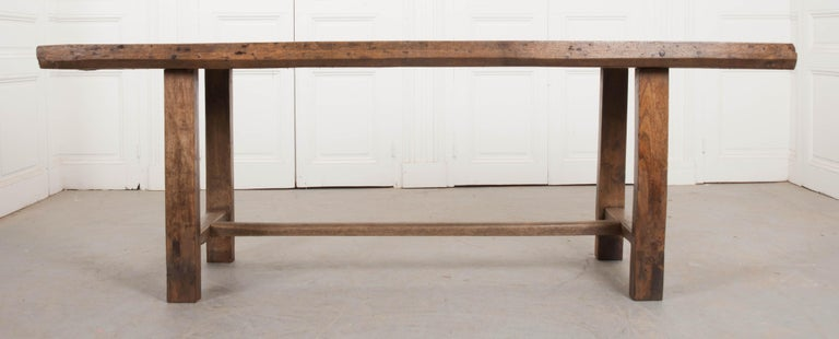 French Provincial French 19th Century Oak Farmhouse Table For Sale