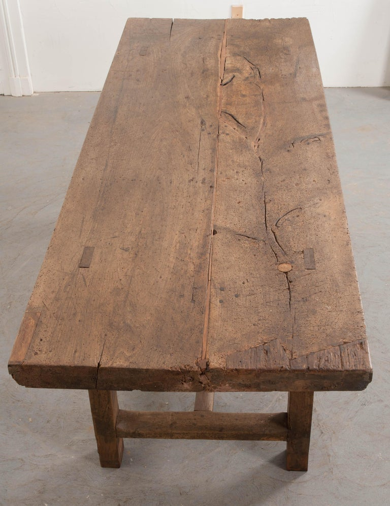 French 19th Century Oak Farmhouse Table For Sale 1
