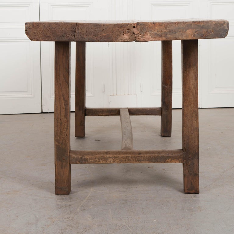 French 19th Century Oak Farmhouse Table For Sale 3