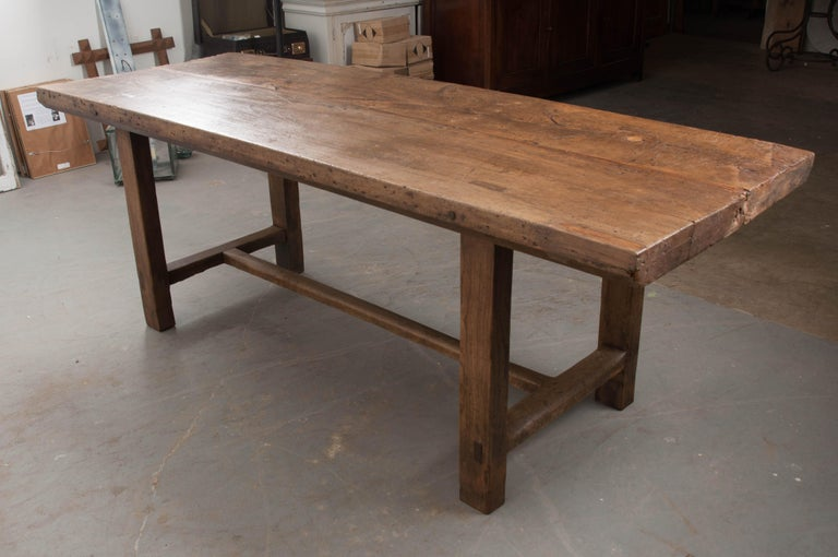 French 19th Century Oak Farmhouse Table For Sale 4