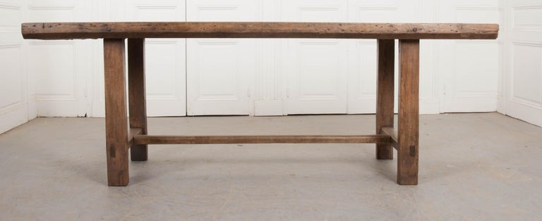 French 19th Century Oak Farmhouse Table For Sale 5
