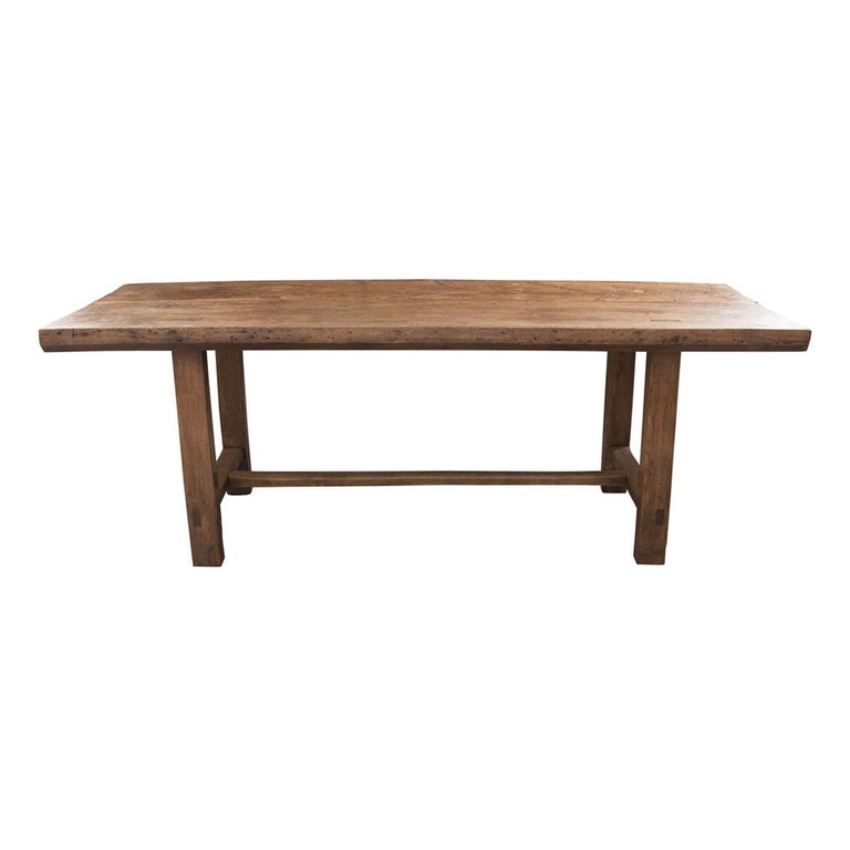 French 19th Century Oak Farmhouse Table For Sale