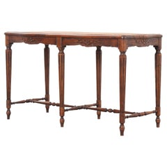 French 19th Century Oak Louis XVI-Style Bench with Cane Seat