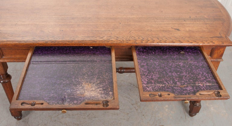 French 19th Century Oak Sewing Table For Sale 6