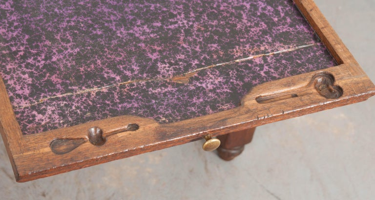 French 19th Century Oak Sewing Table For Sale 7