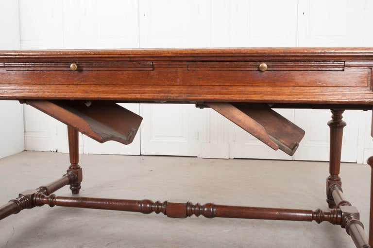 French 19th Century Oak Sewing Table For Sale 8