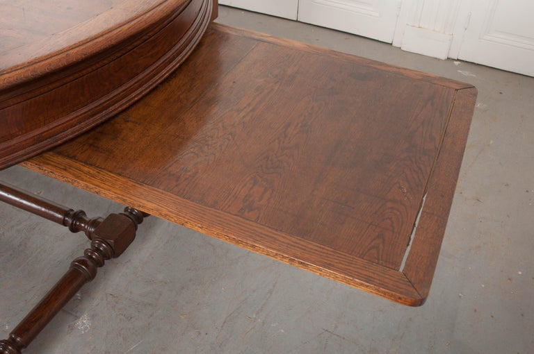 French 19th Century Oak Sewing Table For Sale 9