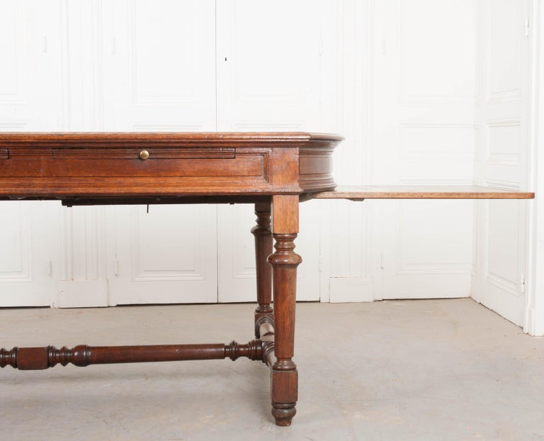 French 19th Century Oak Sewing Table For Sale 5