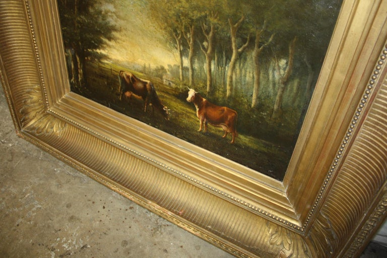 French 19th Century Oil on Canvas For Sale 7
