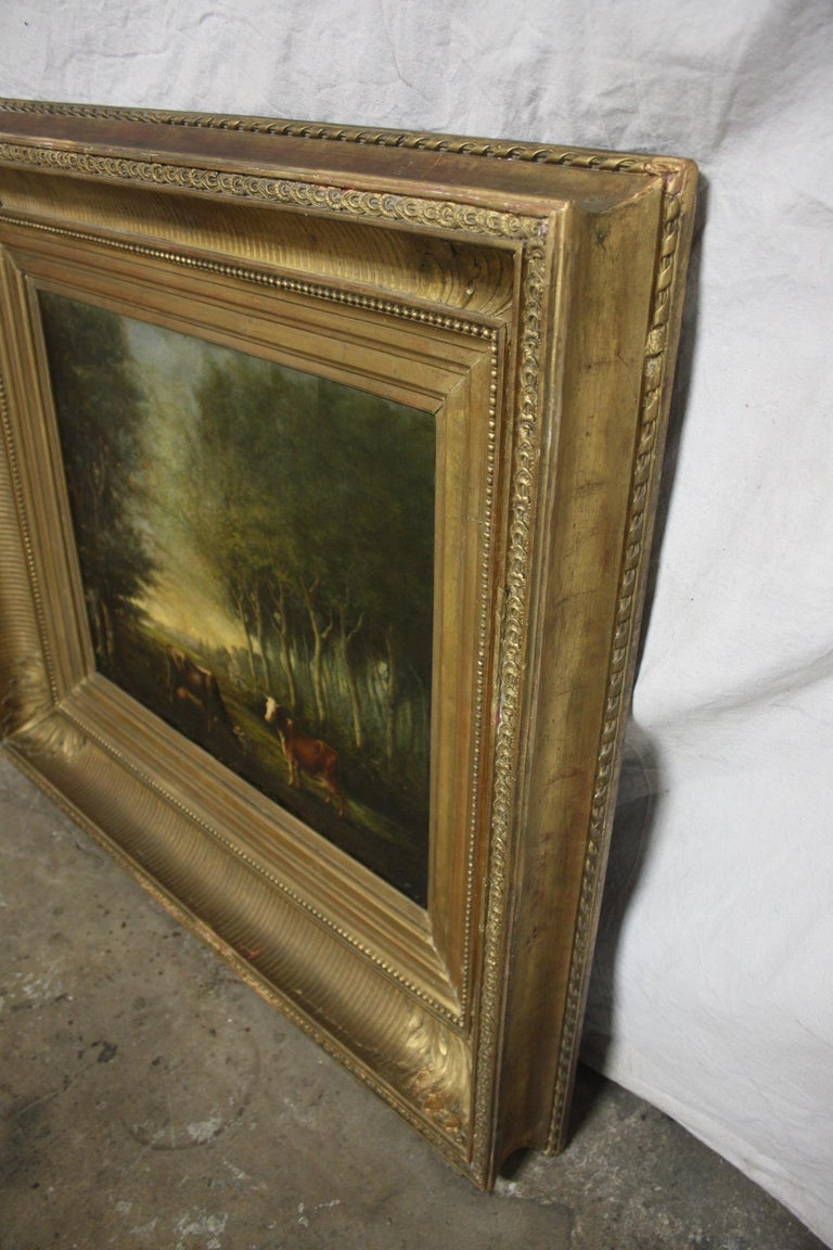 French 19th Century Oil on Canvas For Sale 9