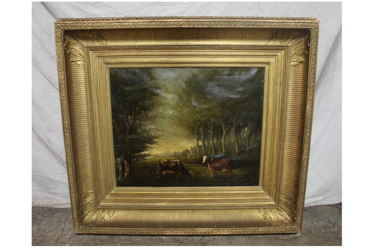 French 19th century oil on canvas.