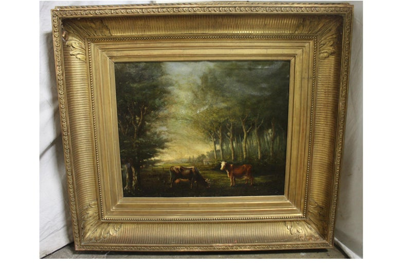 French 19th Century Oil on Canvas In Good Condition For Sale In Atlanta, GA