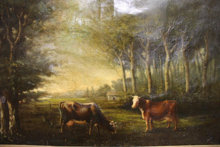 French 19th Century Oil on Canvas For Sale 1