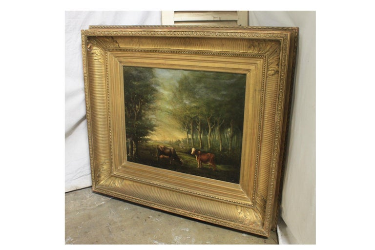 French 19th Century Oil on Canvas For Sale 2