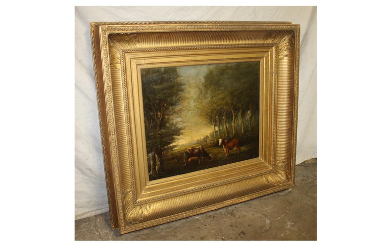 French 19th Century Oil on Canvas For Sale 4