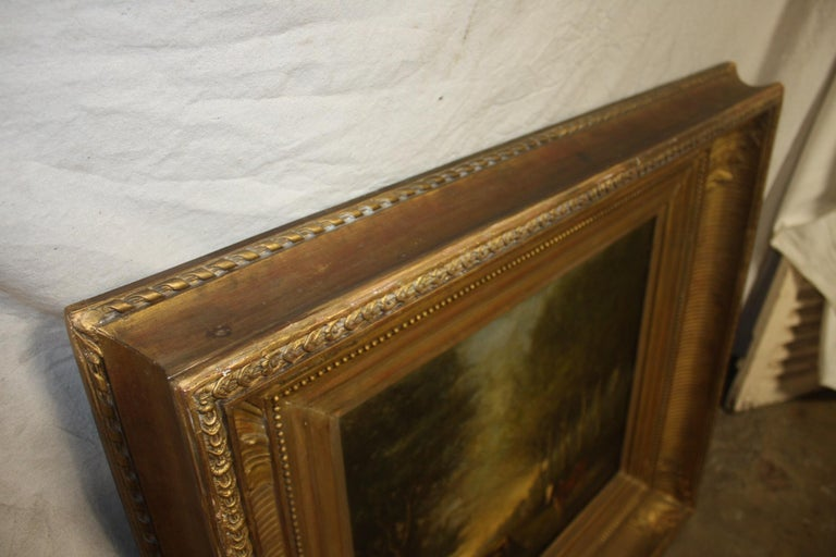 French 19th Century Oil on Canvas For Sale 5