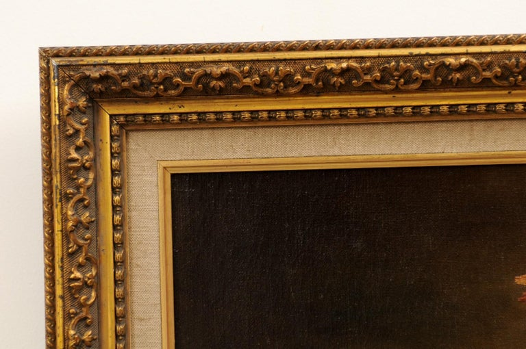 French 19th Century Oil on Canvas Framed Still-Life Painting Depicting Fruits For Sale 10