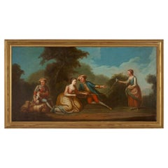 French 19th Century Oil on Canvas Painting