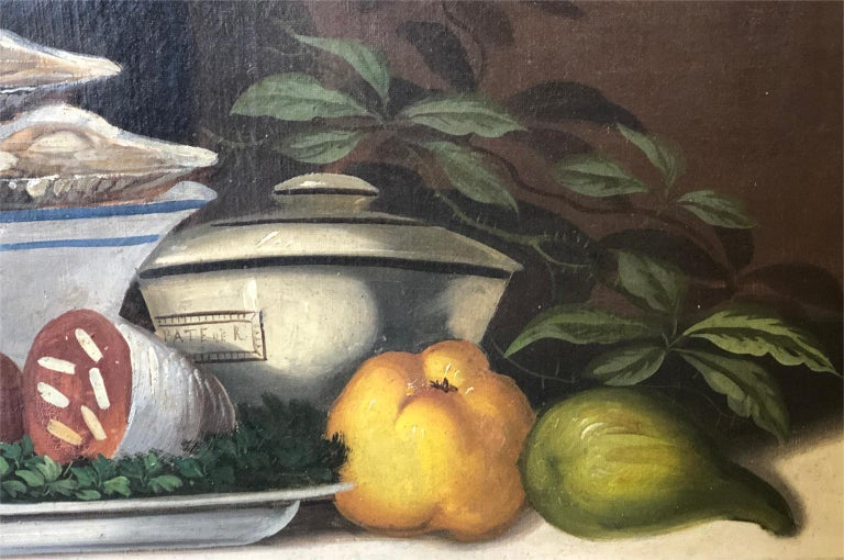 French 19th Century Oil Painting In Good Condition For Sale In Atlanta, GA