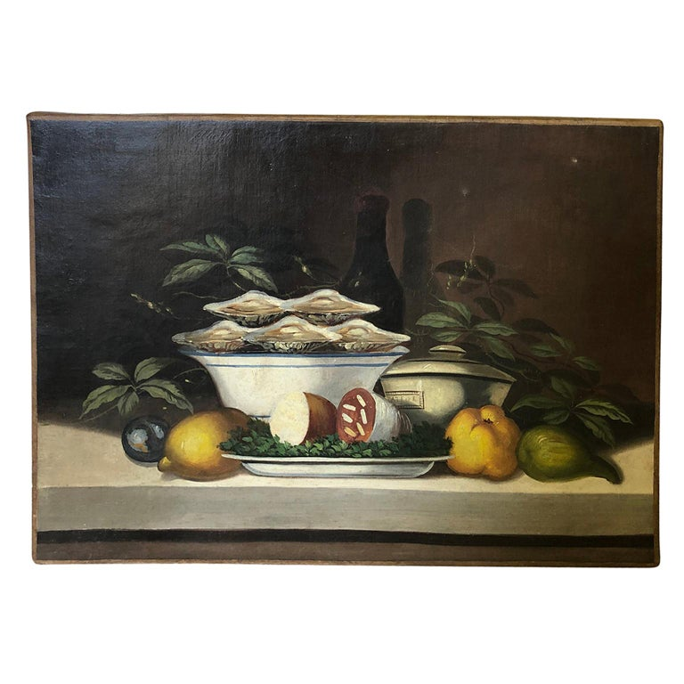 French 19th Century Oil Painting For Sale