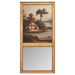 French 19th Century Oil Painting Trumeau